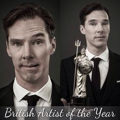 Congratulations, Mr. Benedict Cumberbatch.  You are the British Artist of the Year. :D