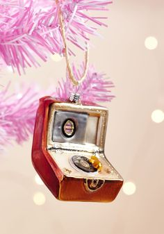 Record Player Reverie Ornament - Let this record player ornament accompany the retro holiday tunes you have all queued up! Nostalgic in design and full of shine, this tree accessory will surely put a song in your heart.