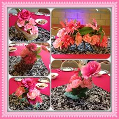 About centerpieces on pinterest shoes church and table centerpieces