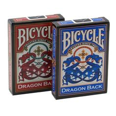 Red and Blue Dragon Back Playing Cards by Bicycle