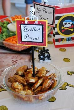 Pirate party with cute food ideas.