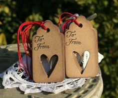 Valentines Gift Tags  Set of 8 Holiday gift tags by designstudioL, $3.59