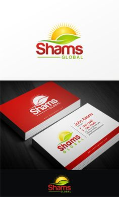 designers create a logo for the business and business card design for shams global to