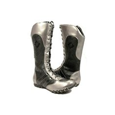 Amazon.com: Metallic Silver Black Floral Boxing Wrestling Boots... ($50) ❤ liked on Polyvore featuring shoes, boots, shoes boots, wrestling, black boots, floral boots, kohl boots, floral-print boots and flower print boots