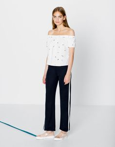 :TROUSERS WITH SIDE BAND