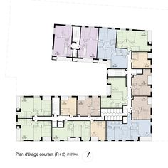 Ameller, Dubois & Associés · 70 alloggi sociali a Colombes