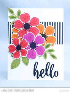 Flashy Florals Card Kit - Julie Dinn  #mftstamps