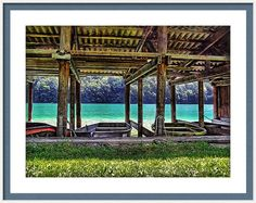 Ruderboote Framed Print featuring the photograph Rowboat Parking by Hanny Heim, Snowbird Photography #photography #switzerland #boats #seelisberg #Lake #schweiz