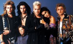 The Lost Boys. Vamps dressed like rock stars...right up my alley. 80's inspiration. Especially the 2 hot adults on the left end.