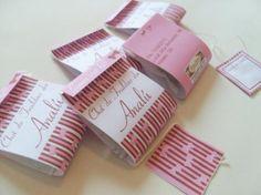 Sachê de chá personalizado para chá de bebê