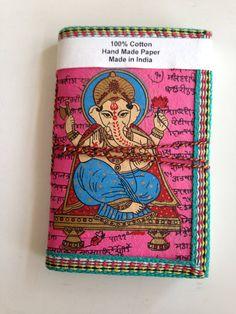 Ganesha Hindu Indian Art Journal Dark Pink by IndianJournals