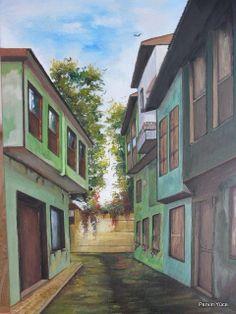 """ Antalya Kaleiçi "" Acrylic paint on canvas"