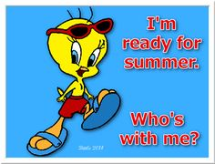 Im ready for summrer quotes summer quote tweety bird looney toons summer quotes