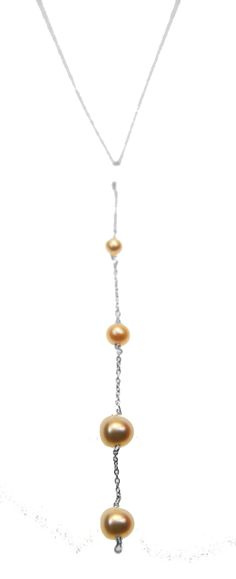 Melissa McArthur Jewellery Trickle Fresh Water Pearl Necklace in Stirling Silver