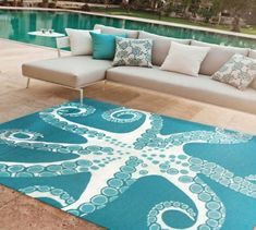 You can enhance the natural beauty of your home with beach house decorating ideas. Coastal Decor like beach art and furniture. Coastal Homes, Coastal Living, Coastal Decor, Coastal Area Rugs, Coastal Bedrooms, Beach Homes, Indoor Outdoor Rugs, Outdoor Living, Outdoor Beach Decor