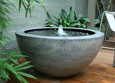 light weight concrete Garden Cubist is part of Garden - Concrete Fountains, Concrete Garden, Garden Fountains, Outdoor Fountains, Patio Fountain, Concrete Bowl, Water Features In The Garden, Garden Features, Garden Art