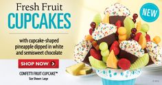 The freshest fruit arrangements: bouquets, chocolate dipped fruit & more. Chocolate Dipped Fruit, Chocolate Covered Strawberries, Pineapple Dip, Fruit Cupcakes, Edible Arrangements, Chocolate Shop, Fresh Fruit, Shopping Sites, Online Shopping