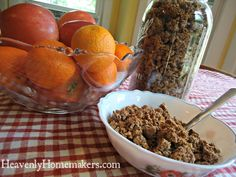 Make Your Own Cracklin' Oat Bran Cereal | Heavenly Homemakers