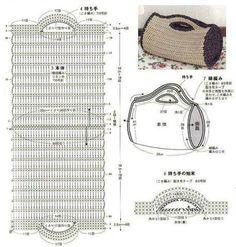 Nem strikkeopskrift: lovely håndtaske formet slik!