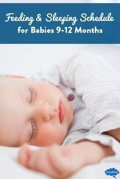 Need a feeding and sleeping schedule for your baby? Babies aged 9-12 months are sleeping longer and eating more solids, but what should their day look like? Here's a FREE printable daily schedule for your babies!