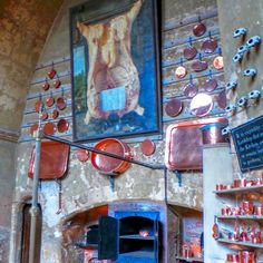 Kitchens of the Great Houses of Britain. Burghley House, Lincolnshire, amazing chicken painting