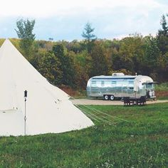 #Airstream love: The problem with a field is that you can put stuff in it.
