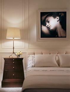 Beige with dark furniture