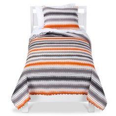 Mudhut Xavier Bedding Collection also see Dhurrie Quilt Set Blue Bedding, Quilt Bedding, Chevron Bedding, Striped Bedding, Orange Quilt, Quilts Online, Target, Kids Bedding Sets, Twin Quilt