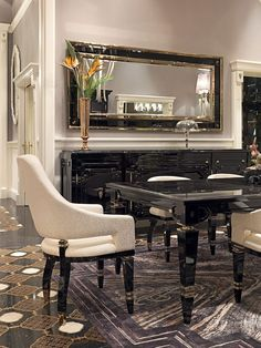 If you work in the interior design industry you know what it takes to transform a living space – accent furniture. The bold detailing and unusual aesthetics are perfect to enhance any ambiance or style. Upscale Furniture, Luxury Furniture, Furniture Design, Accent Furniture, Luxury Dining Room, Dining Room Design, Luxury Interior, Interior Design, Küchen Design