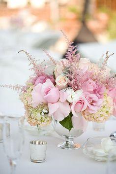 Pretty-in-pink flower centerpiece