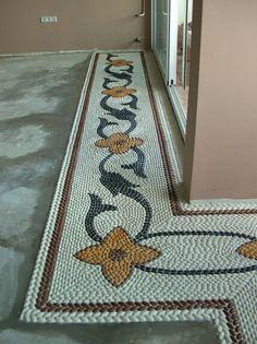 Mehmet Personli 2004 – My Best Decor Mosaic Flower Pots, Mosaic Pots, Pebble Mosaic, Mosaic Diy, Mosaic Garden, Stone Mosaic, Pebble Art, Mosaic Designs, Mosaic Patterns