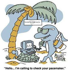 """Hello....I'm calling to check your pacemaker."" #Funny #Monday #Humour!"