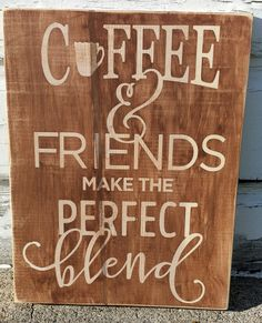"""9.5"""" x 12"""" wooden sign Cute and funny, lighthearted sentiment, perfect for a kitchen or dining room. Makes a great gift for that special friend you enjoy sharin"""