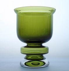 """NANNY STILL - Glass vase """"Ella"""" 1318 designed in 1973 for Riihimäen Lasi Oy, in production Finland. Art Of Glass, Art File, Glass Ceramic, Retro Art, Glass Design, Hurricane Glass, Lassi, Be Still, Ceramics"""