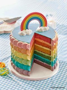 The rainbow cake never stops being fab! This recipe is from our Kids' Birthday Cakes book. The rainbow cake never stops being fab! This recipe is from our Kids' Birthday Cakes book. Cute Cakes, Pretty Cakes, Yummy Cakes, Beautiful Cakes, Amazing Cakes, Sweet Cakes, Big Cakes, Food Cakes, Cupcake Cakes