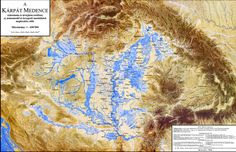 Hydrography of the Pannonian Basin before the River and Lake Regulations in the Century Whole Earth, In A Little While, Search And Rescue, Map Design, Budapest Hungary, How Beautiful, High Quality Images, Old World, Basin