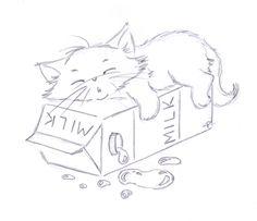 Sliekje digi Stamps: Candy cloud – Welcome Cute Animal Drawings, Cool Art Drawings, Animal Sketches, Pencil Art Drawings, Art Drawings Sketches, Cartoon Drawings, Some Easy Drawings, Colorful Drawings, Cat Art