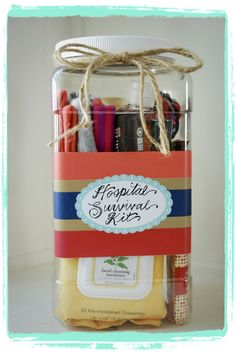 mystics + mint: CREATE :: baby shower gift- maybe pack it in a zip up cosmetic bag instead.