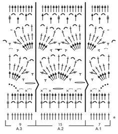 """Graceful Mermaid / DROPS 168-29 - Poncho DROPS en ganchillo con patrón de calados, trabajado de arriba para abajo, en """"Cotton Merino"""". Talla: S – XXXL. - Free pattern by DROPS Design"""