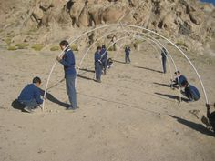 The kids themselves made a low cost green house in the ariddesert of the Himalayas in under 30$ in under 3 hours!