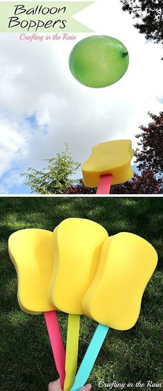 Balloon Boppers   12 Rainy Day Crafts for Kids   Simple And Fun Projects For Kids, Perfect For Indoor Activity! by DIY Ready at  http://diyready.com/rainy-day-craft-for-kids/