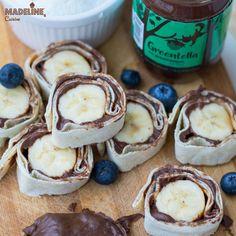 Rulouri cu Greentella si banane / Hazelnut spread & banana rolls