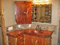 Custom Natural Wood Vanities