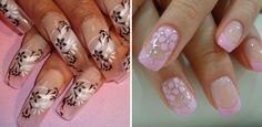 Decorazione unghie disegni floreali