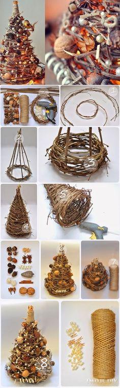 hand craft christmas tree - tutorial