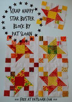 pat sloan scrap happy star buster block