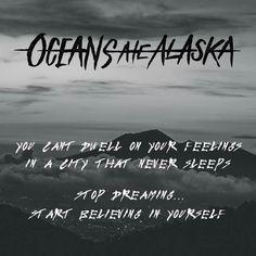 Oceans Ate Alaska || Downsides Runaway Kids, Band Quotes, Music Lyrics, Music Lovers, In My Feelings, Music Stuff, Music Bands, Music Is Life, Good Music