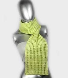 Buy Smart Crochet Stole | Light Green scarf online