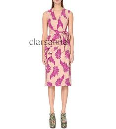"""Brand: Dries Van Noten. Item Type: Danae Printed Dress. Retail Price: $1,260.00. Size: 38. Approx. Measurements : Bust 36.5"""" Waist 30"""" Hip 41"""" Full Length 44"""". V neck. Faux wrap front. Fitted cut. Hidden side zipper from below the underarm. Lined. Straight hem. Matching fabric self tie belt. Comes with store tag only. 100% authentic. Fabric does not have stretch. Make sure to check measurements to ensure fitting. Pin holes are found on the lower back. As is sale. Tap here ..."""