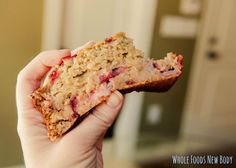 Clean Eating Strawberry Banana Bread - oat flour, baking powder, sea salt, honey (would use stevia + applesauce), bananas, eggs, plain non-fat Greek yogurt, pure vanilla extract, strawberries